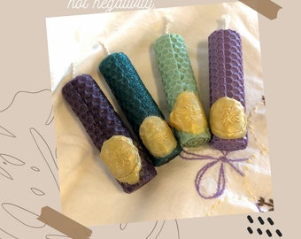 Medium size Rolled Beeswax Candles