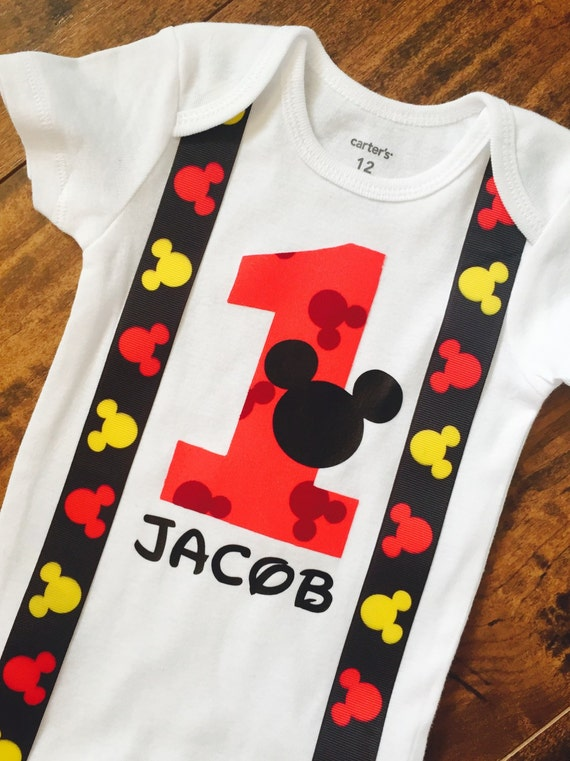 Mickey Mouse Onesie First Birthday Cake