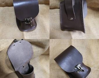 Leather belt fanny pouche bag