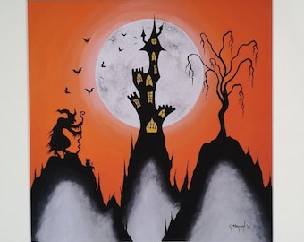 The Crone's Castle Mounted Print