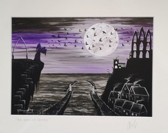 The Bats of Whitby Mounted Print
