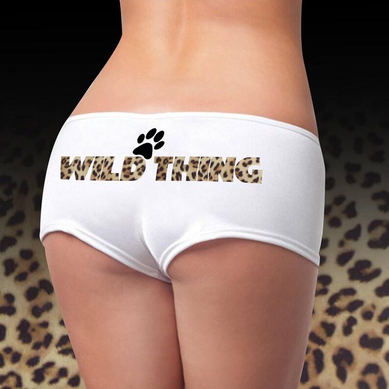 c78f88af8858 Wild Thing Panties Leopard Print Panties Sexy Panties | Etsy
