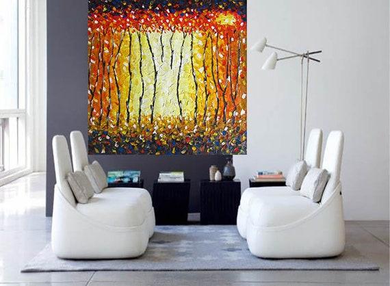 180cm original abstract Art oil Painting landscape ocean dreaming fire Australia