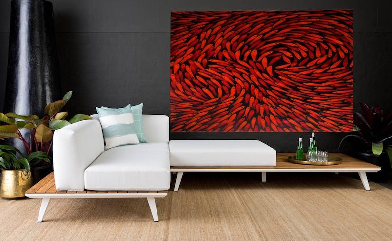 Framed fish  dreaming COA  Aboriginal inspired  Art Print  by jane crawford