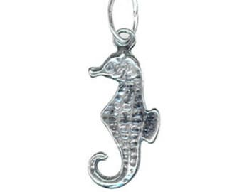 Seahorse Charm - Sterling silver - 12mm