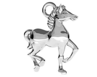 Horse Charm 14mm - Sterling Silver 925