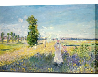 The Walk by Claude Monet Canvas Print Canvas Art Interior Design Ready To Hang Home Decor