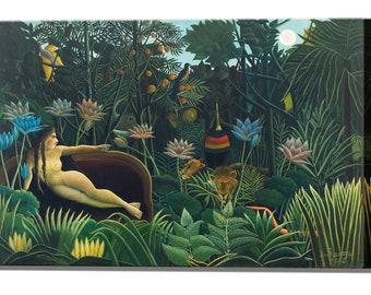 Henri Rousseau, The Dream, Ready to Hang Canvas Print, Canvas Wall Art Print Wall Decor Home Decor Gift