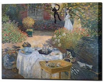 Lunch in the Garden Claude Monet Canvas Print Canvas Art Home Decor Interior Design Ready To Hang