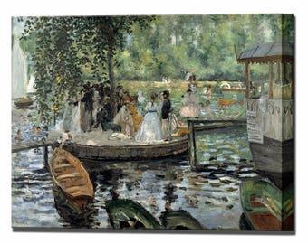 La Grenouillere by Renoir Canvas Art Print Wall Decor Canvas Art Canvas Wall Art Print Ready To Hang
