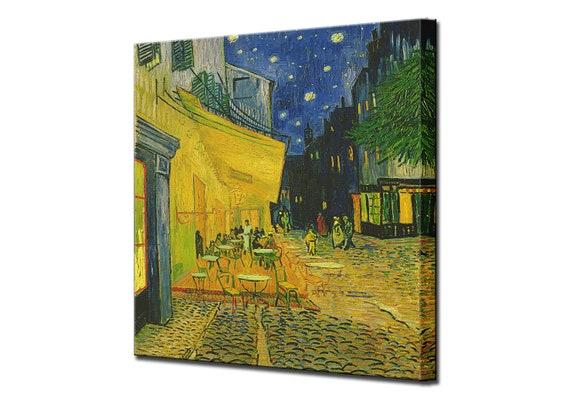 Terraza Del Café Por La Noche Van Gogh Arte De Pared Home Decor Lona Impresión Arte Impresionismo Arte Interiorismo Enmarcado