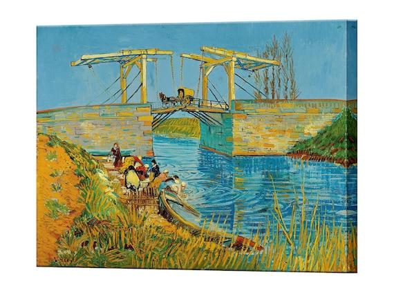 Kissenhülle Kissenbezug Motivkissen Gemälde Vincent van Gogh Brücke in Langlois