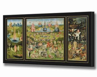 Garden of Earthly Delights Hieronymus Bosch Print Canvas Art Wall Art Print Bosch Print Home Decor, Ready To Hang