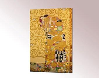 Fulfilment by Gustav Klimt Gift for Her Canvas Print Interior Design Ready To Hang