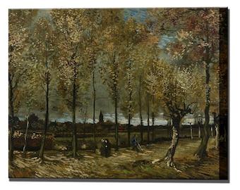 Poplars Trees Van Gogh by Canvas Print Wall Decor Interior Vincent Design Ready To Hang