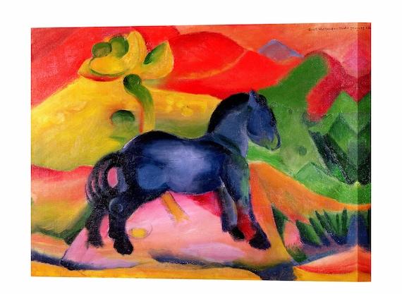 Franz Marc Kleine Blaue Pferd Fertig Zum Aufhängen Leinwand Drucken Wand Dekor Expressionismus Home Decor Leinwand Wand Kunstdruck