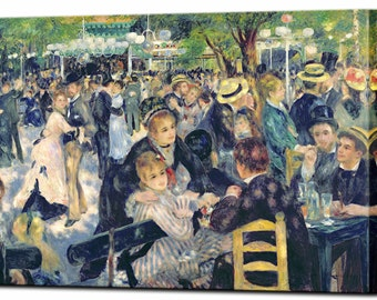 Dance at Moulin de la Galette by Renoir Canvas Print Home Decor Impressionism Wall Art Print Ready To Hang