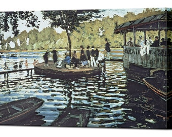 La Grenouillere by Claude Monet Canvas Print Home Decor Interior Design Ready to Hang Decor