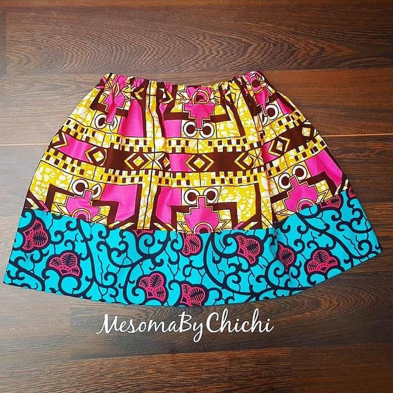 African Ankara Fabric Girl Toddler Clothes Baby Girl Skirts Summer Skirt