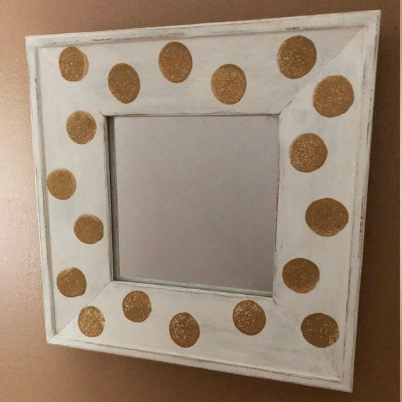 Polka Dot Mirror Accent Mirror Gold Polka Dot Mirror Etsy