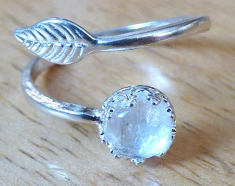 Mothers Day Mom Gift Sterling Silver Leaf Breast Milk Ashes Placenta Ring Jewelry Keepsake Gift New Mom - Simulation