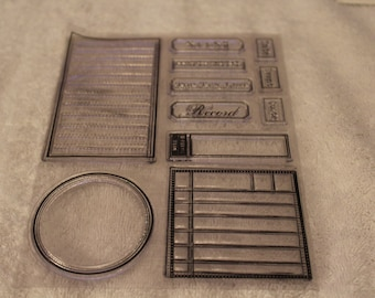 """Free Shipping!  Four Journal Spots & Titles - Appears New - 5 1/2"""" x 7 1/4"""" - Card Making - Stamping - Scrapbook - CC2 - 63"""