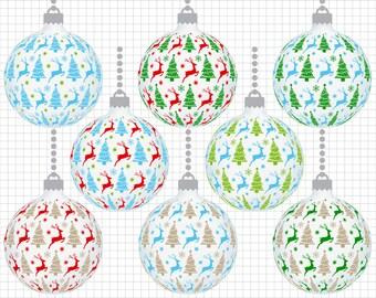 christmas clipart christmas ornament clipart christmas balls etsy rh etsy com printable christmas clipart images printable christmas clipart phrases