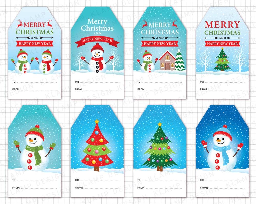 Weihnachten Tags Cliparts: Weihnachten Geschenkanhänger | Etsy