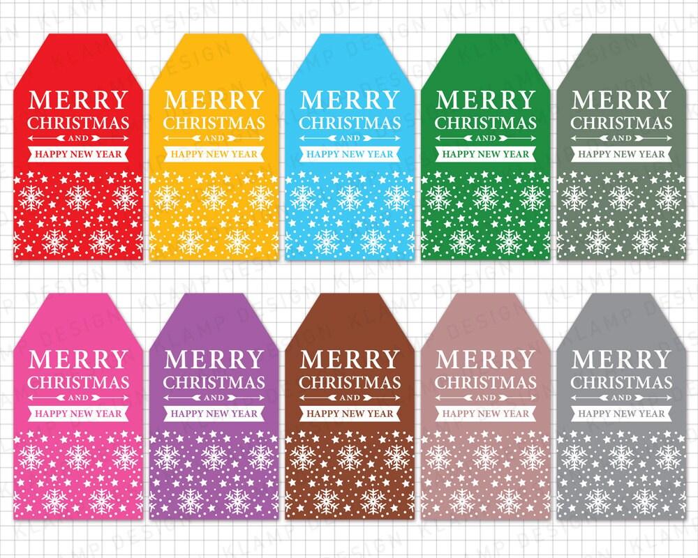 Weihnachten-Tags druckbare: Weihnachten Geschenkanhänger | Etsy