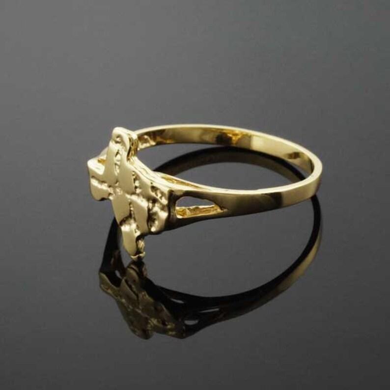 Ladies Gold Texas Nugget Ring yellow, white gold, 10k, 14k