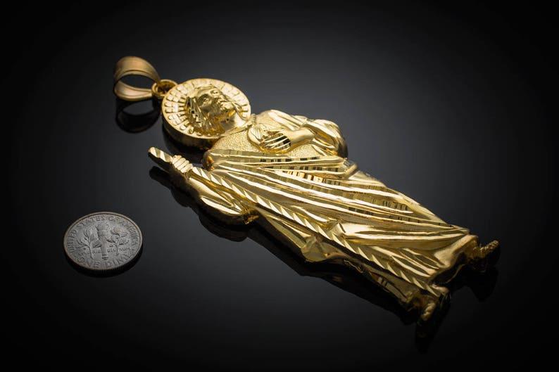 33f852fa580 Gold Saint Jude Large Pendant yellow white rose gold 10k | Etsy