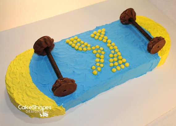 Sensational Skateboard Cut Up Cake Pattern Etsy Funny Birthday Cards Online Elaedamsfinfo