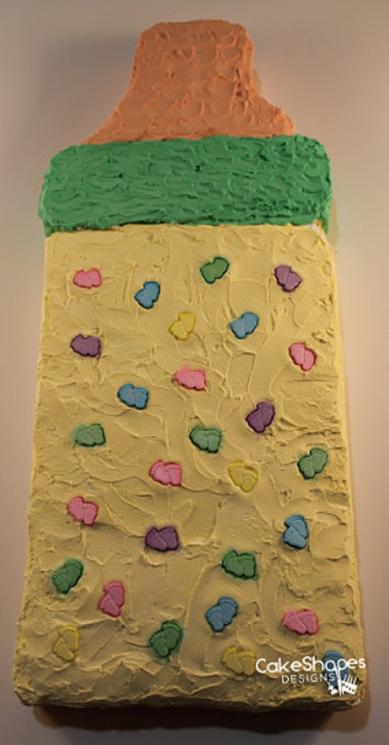 Baby Bottle Cut-up Cake Pattern image 0