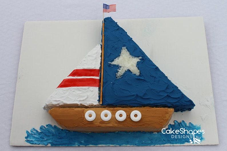 Sailboat Cut-up Cake Pattern image 0