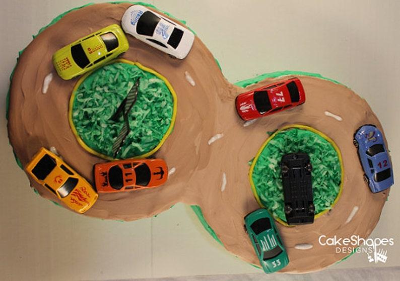 Racetrack Cut Up Cake Pattern