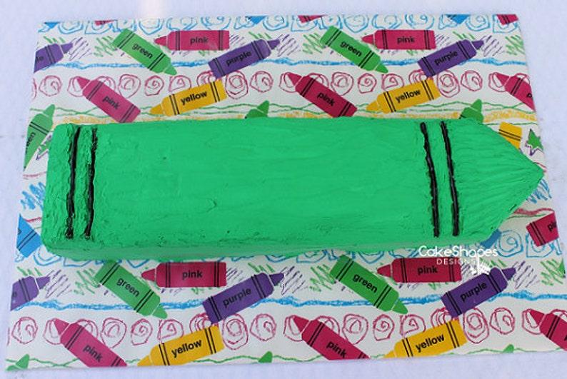 Crayon Cut-up Cake Pattern image 0