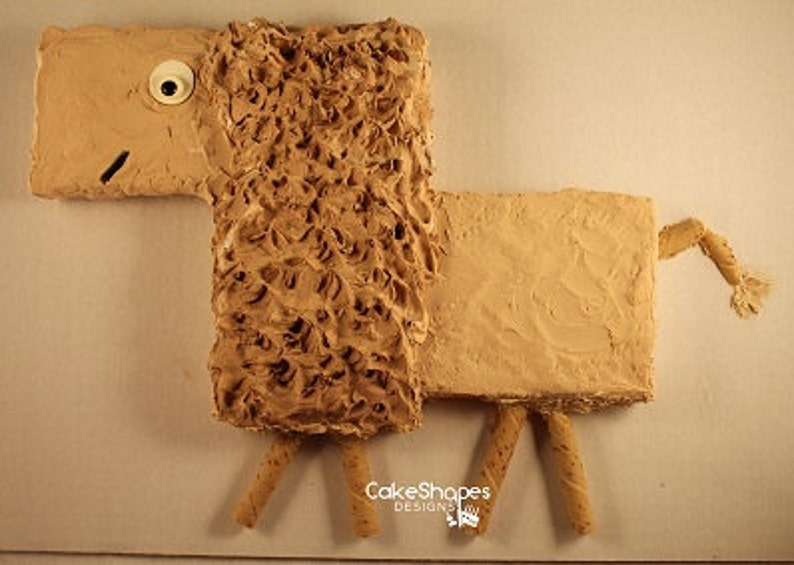 Lion Cut-up Cake Pattern image 0