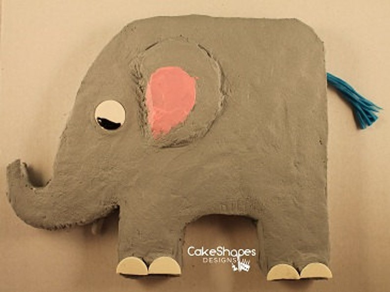 Elephant Cut-up Cake Pattern image 0