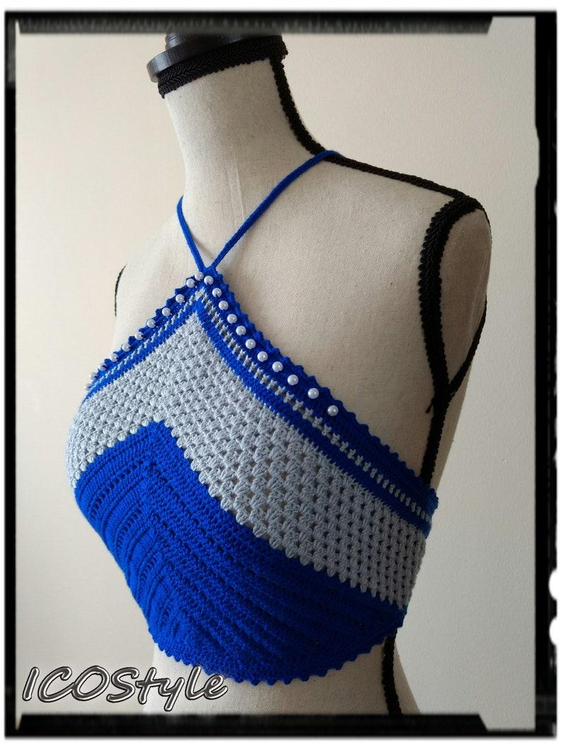 Women Top READY TO SHIP Crochet Crop Top Boho Crop Top Crop Top Boho Top Festival Crop Top Crochet Halter Top