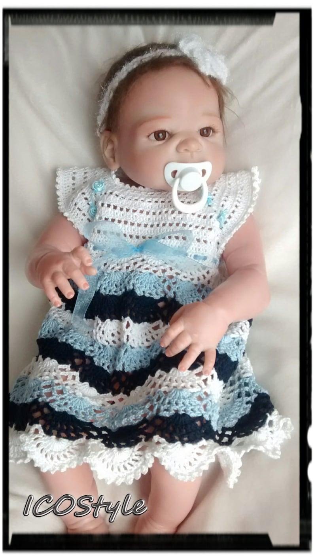 Crochet Baby Dress Newborn Baby Girls Dress,Organic cotton dress,,Ready To Ship, Boutique First Birthday Gift Cotton Dress