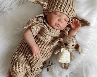 Baby Crochet Costume, Crochet Newborn Set, Newborn Costume, Amigurumi Toy.