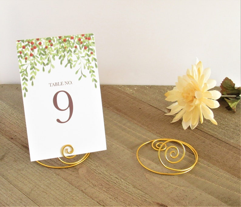 Place Card Holder Wire | Wire Table Number Holder Place Card Holder Medium Wire Etsy