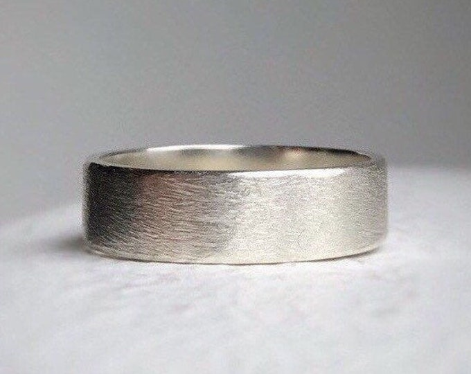 Featured listing image: 925 - Rustic wedding band - rustic sterling silver wedding band - Wedding band - Men's wedding bands - Rustic wedding ring