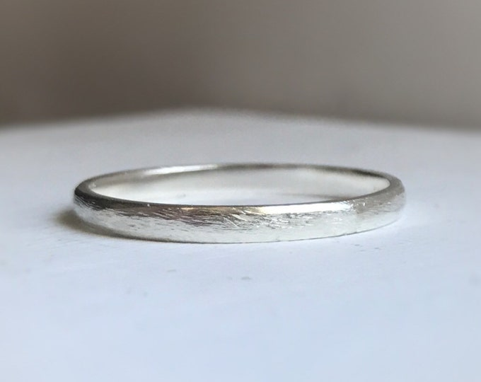 Featured listing image: Rustic wedding band for her - rustic sterling silver wedding band - Ethically sourced