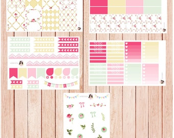 Shabby Chic Roses - LIMITED EDITION - Kit | Erin Condren Life Planner | Happy Planner | Plum Paper