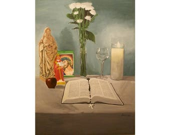 El Altar de Mami - Puerto Rican Art Limited Edition Giclee Prints and Posters
