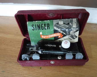 Vintage Singer Buttonholer with Attachments