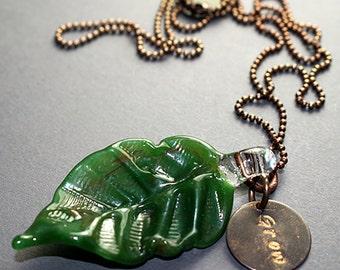 Grow- Blown Glass Necklace