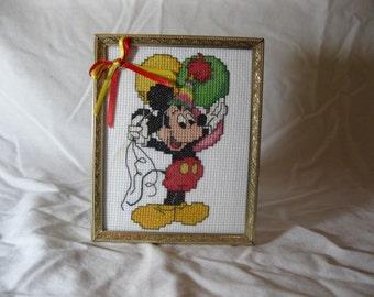Mickey Framed Cross Stitch