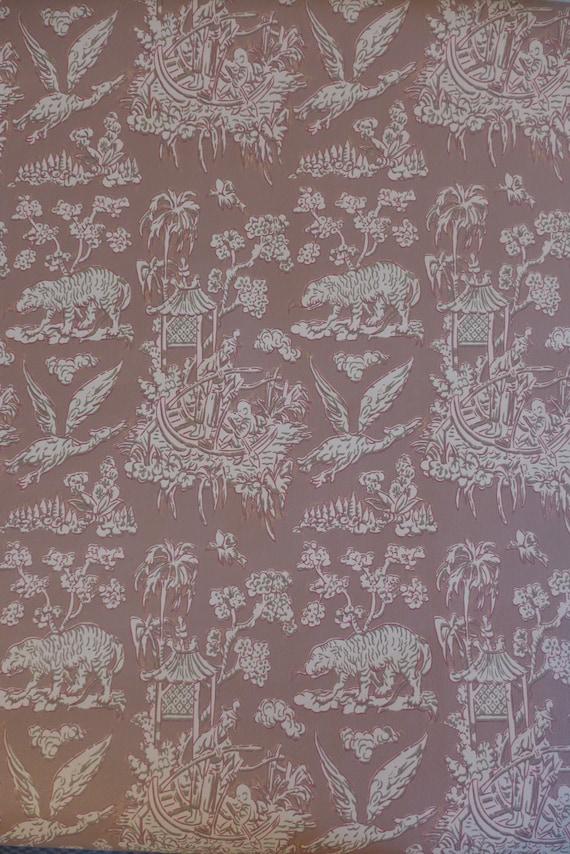 Motif Vintage Fond D Ecran Oriental Rouge Brun Japonais Etsy